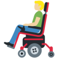 Man in Motorized Wheelchair: Medium-Light Skin Tone on Twitter Twemoji 12.0