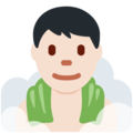Man in Steamy Room: Light Skin Tone on Twitter Twemoji 12.0