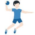 Man Playing Handball: Light Skin Tone on Twitter Twemoji 12.0