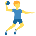 Man Playing Handball on Twitter Twemoji 12.0