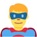 Man Superhero on Twitter Twemoji 12.0