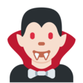 Man Vampire: Light Skin Tone on Twitter Twemoji 12.0