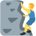 Person Climbing on Twitter Twemoji 12.0