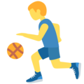 Person Bouncing Ball on Twitter Twemoji 12.0