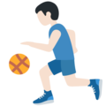 Person Bouncing Ball: Light Skin Tone on Twitter Twemoji 12.0