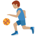 Person Bouncing Ball: Medium Skin Tone on Twitter Twemoji 12.0