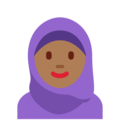 Woman With Headscarf: Medium-Dark Skin Tone on Twitter Twemoji 12.0