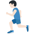 Person Running: Light Skin Tone on Twitter Twemoji 12.0