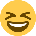 Grinning Squinting Face on Twitter Twemoji 12.0