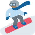 Snowboarder: Medium-Dark Skin Tone on Twitter Twemoji 12.0
