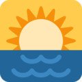 Sunrise on Twitter Twemoji 12.0