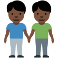 Men Holding Hands: Dark Skin Tone on Twitter Twemoji 12.0