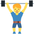 Person Lifting Weights on Twitter Twemoji 12.0