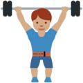 Person Lifting Weights: Medium Skin Tone on Twitter Twemoji 12.0