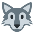 Wolf Face on Twitter Twemoji 12.0