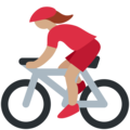 Woman Biking: Medium Skin Tone on Twitter Twemoji 12.0