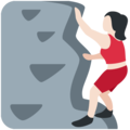 Woman Climbing: Light Skin Tone on Twitter Twemoji 12.0