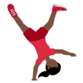 Woman Cartwheeling: Dark Skin Tone on Twitter Twemoji 12.0