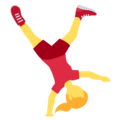 Woman Cartwheeling on Twitter Twemoji 12.0