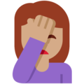 Woman Facepalming: Medium Skin Tone on Twitter Twemoji 12.0