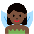 Woman Fairy: Dark Skin Tone on Twitter Twemoji 12.0