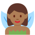 Woman Fairy: Medium-Dark Skin Tone on Twitter Twemoji 12.0