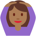 Woman Gesturing OK: Medium-Dark Skin Tone on Twitter Twemoji 12.0