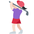 Woman Golfing: Light Skin Tone on Twitter Twemoji 12.0