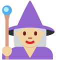 Woman Mage: Medium-Light Skin Tone on Twitter Twemoji 12.0