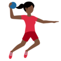 Woman Playing Handball: Dark Skin Tone on Twitter Twemoji 12.0