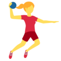 Woman Playing Handball on Twitter Twemoji 12.0