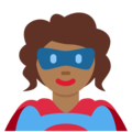 Woman Superhero: Medium-Dark Skin Tone on Twitter Twemoji 12.0