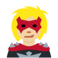 Woman Supervillain: Medium-Light Skin Tone on Twitter Twemoji 12.0
