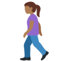 Woman Walking: Medium-Dark Skin Tone on Twitter Twemoji 12.0