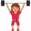 Woman Lifting Weights: Medium Skin Tone on Twitter Twemoji 12.0
