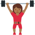 Woman Lifting Weights: Medium-Dark Skin Tone on Twitter Twemoji 12.0