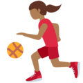 Woman Bouncing Ball: Medium-Dark Skin Tone on Twitter Twemoji 12.0
