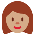 Woman: Medium Skin Tone on Twitter Twemoji 12.0