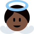 Baby Angel: Dark Skin Tone on Twitter Twemoji 12.1