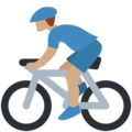 Person Biking: Medium Skin Tone on Twitter Twemoji 12.1