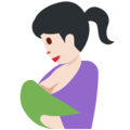 Breast-Feeding: Light Skin Tone on Twitter Twemoji 12.1