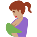 Breast-Feeding: Medium Skin Tone on Twitter Twemoji 12.1