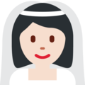 Bride With Veil: Light Skin Tone on Twitter Twemoji 12.1
