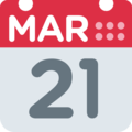 Calendar on Twitter Twemoji 12.1