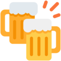 Clinking Beer Mugs on Twitter Twemoji 12.1