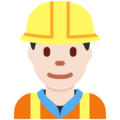 Construction Worker: Light Skin Tone on Twitter Twemoji 12.1