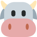 Cow Face on Twitter Twemoji 12.1