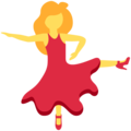 Woman Dancing on Twitter Twemoji 12.1