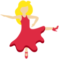 Woman Dancing: Medium-Light Skin Tone on Twitter Twemoji 12.1