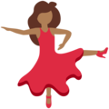 Woman Dancing: Medium-Dark Skin Tone on Twitter Twemoji 12.1
